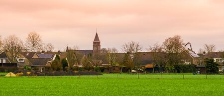 skyline of rucphen a small rustic village in North Brabant, The Netherlands