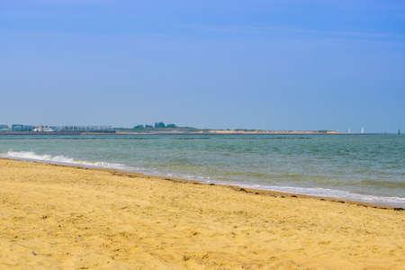 the beach of breskens in summer season, Zeeland, The Netherlands