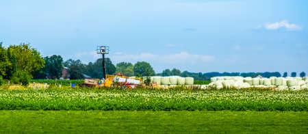 Agricultural landscape in Waterlandkerkje, Zeeland, The Netherlands