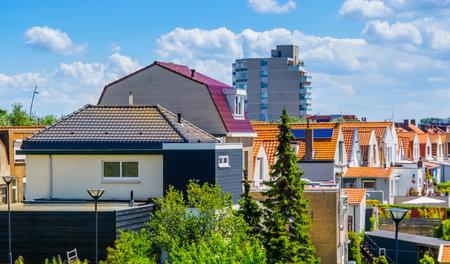 city buildings of Breskens, popular city in zeeland, The Netherlands