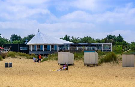 Terrace on the beach of breskens, Breskens, The netherlands, 20 July, 2020