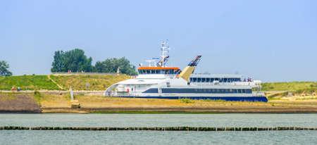 princess Maxima ferry boat in the harbor of breskens, popular cross over between vlissingen and breskens, Breskens, Zeeland, The netherlands, 20 July, 2020