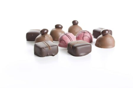 Gourmet chocolates isolated on white. Stock Photo - 7471480
