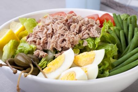 Frisch und verlockend Nicoise Salat.  Standard-Bild - 7658998