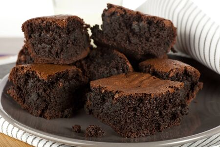 tempting: Tempting chocolate brownie treat, moist and delicious.