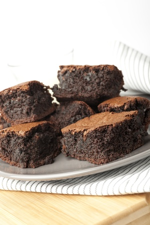 brownies: Tempting chocolate brownie treat, moist and delicious.