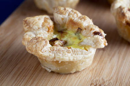 Egg and pastry savory appetizer.