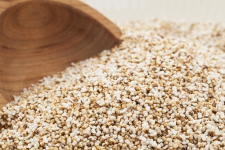 popped: Home popped amaranth seeds with booden spoon