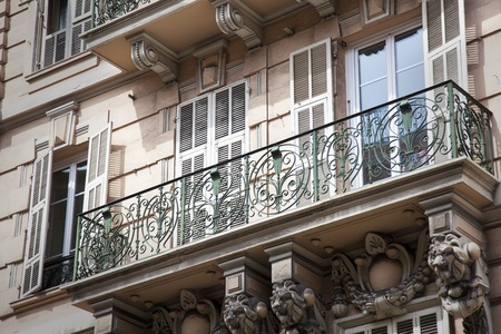 Shuttered windows and balcony in Europe