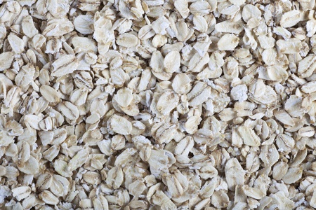 Rolled oats food background or texture