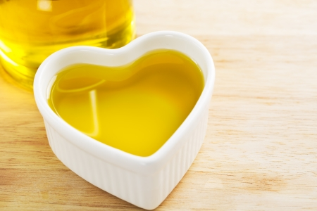 Heart full of healthy olive oil