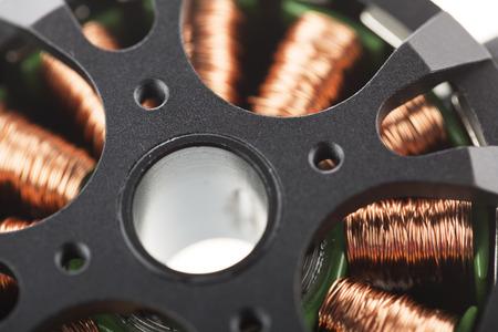 Close Up of brushless motor.