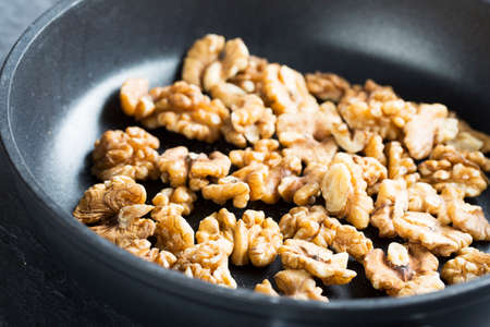 toasting: Walnuts in pan for toasting