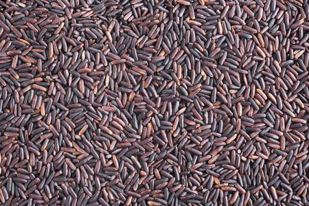 Black rice food background.
