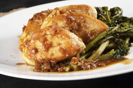 Close up Chicken Breast Dinner