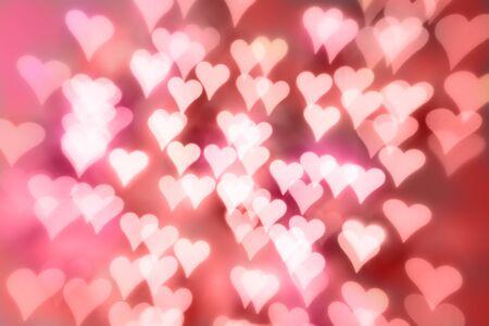 Colorful Heart Shaped Bokeh Standard-Bild