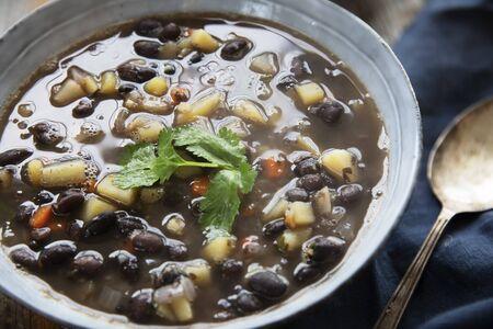 Homemade Black Bean Soup Standard-Bild