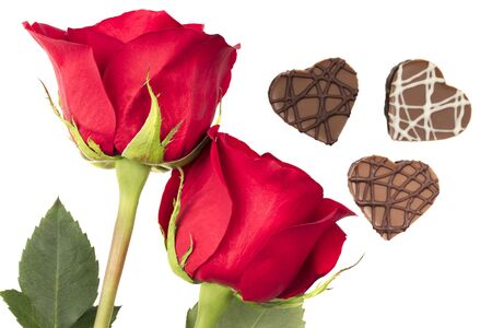Roses and Heart Shaped Chocolates