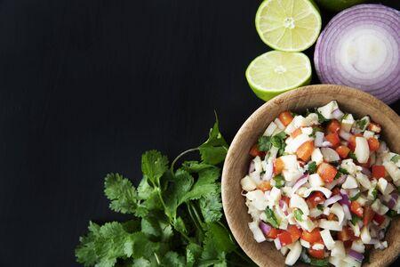 Vegan Salad Flat Lay Standard-Bild