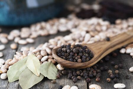 Wooden Spoon of Peppercorns