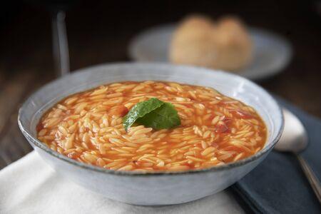 Orzo Soup with Basil