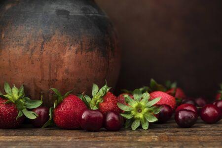 Rustic Fresh Fruit Still Life