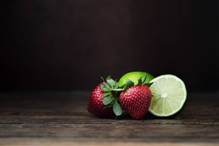 Strawberry and Lime Still Life