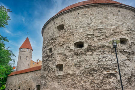 Fat Margaret Tower (Paks Margareeta), home to the country's Maritime Museum, located on the boundary of Tallinn's Old Town area. Stock fotó