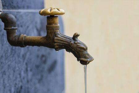 drinkable: Old Italian outdoor water tap