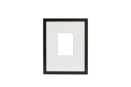 Verticale telaio di legno Archivio Fotografico