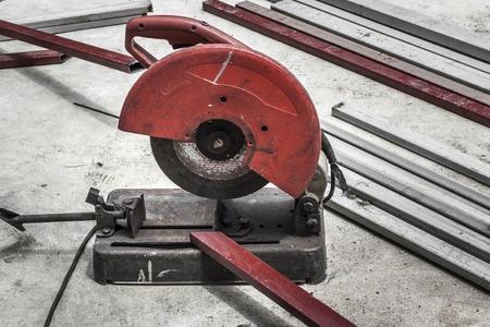 Cutting steel machine photo