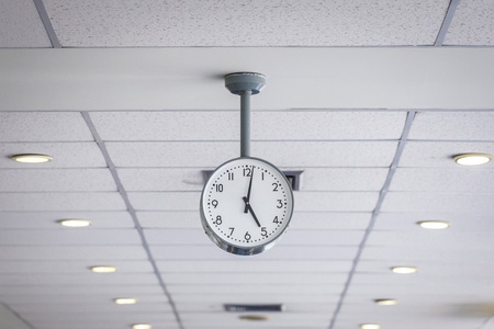 Watch on ceiling Stock Photo
