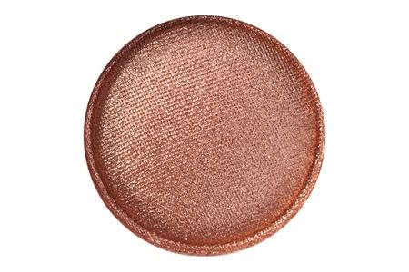 Copper eye shadow close up