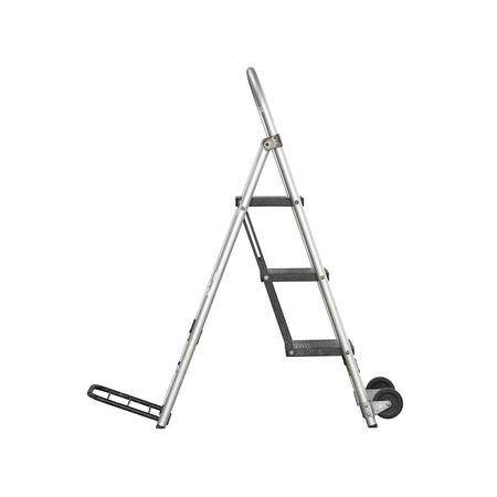 reachability: Aluminum stair  Stock Photo
