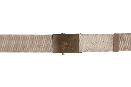 Luce cintura in tessuto canvas marrone isolato su bianco Archivio Fotografico