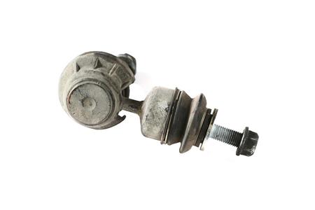 Worthless worn stabilizer links isolated on white  photo