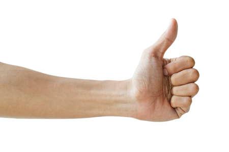 Thumb up isolated on white  Stock Photo - 24061617