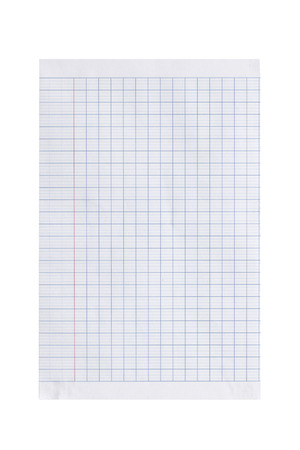 Paper grid isolated on white background photo