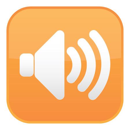 Arancione icona del suono Vettoriali