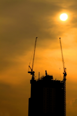 Construction Building silhouettes photo