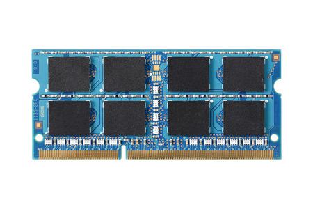 Memoria del computer isolato su sfondo bianco