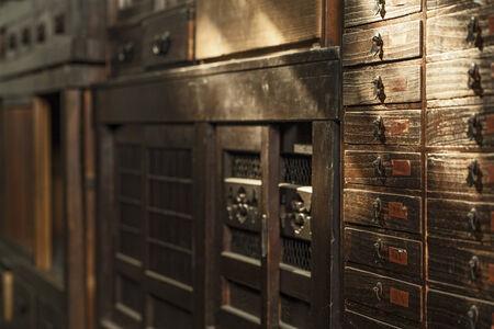 Antique cabinet bakcground  Still life  photo