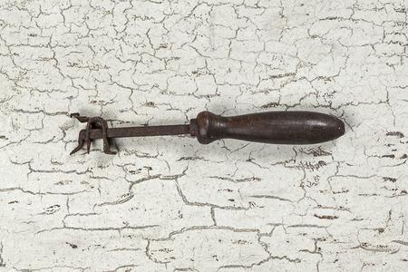 gouge: Antique carpenter tool (Still life) Stock Photo