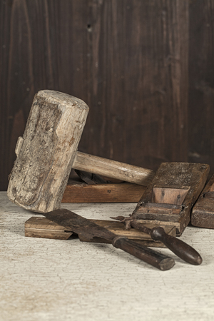Antique carpenter tool  Still life  photo