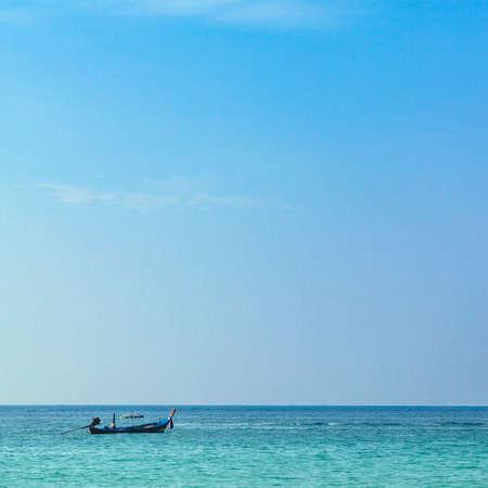 Boat in sea photo