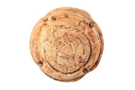 Wine cork isolated on white background photo