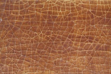 Arancione crepa legno Archivio Fotografico