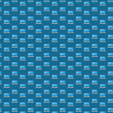 Smart laptop icon pattern  seamless  Vector