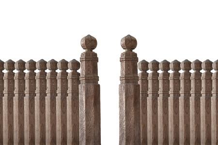 Muro pilastro isolato sulla terra posteriore bianco
