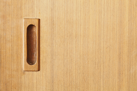 Classic wood sliding door photo